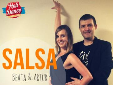 HoliDance- salsa partnerwork on1 z Beatą i Arturem 15.07
